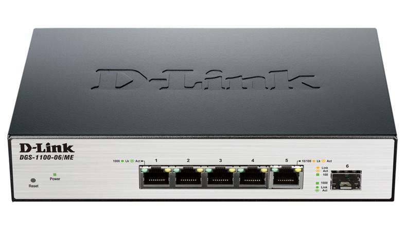 Коммутатор D-Link DGS-1100-06/ME, 491025, черный