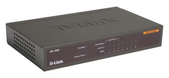 Коммутатор D-Link DES-1008P/C1A, 89960