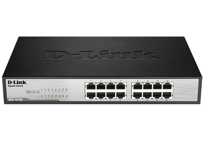 Коммутатор D-Link DGS-1016C/A1A 384439 16G неуправляемый, 384439