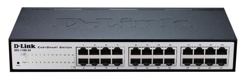 Коммутатор D-Link DES-1100-24/A2A 24x100Mb, управляемый, 601601