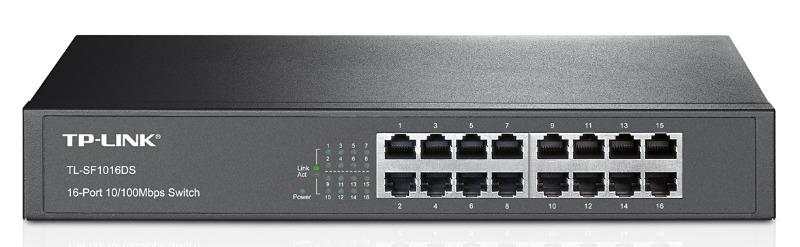 Коммутатор TP-Link TL-SF1016DS 857265 16x100Mb неуправляемый,