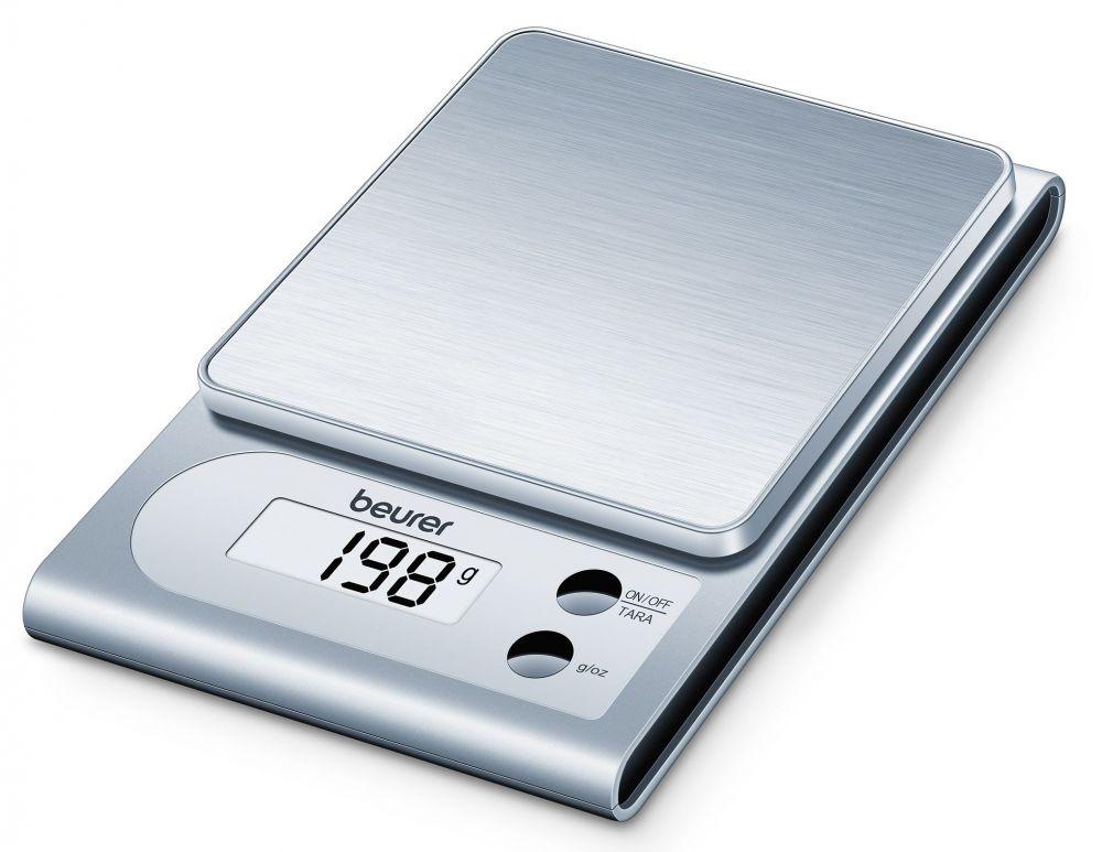 Весы кухонные Beurer KS22 1057426 электронные, цвет серебристый704.10Весы кухонные электронные Beurer KS22 макс.вес:3кг серебристый Рекомендуем!