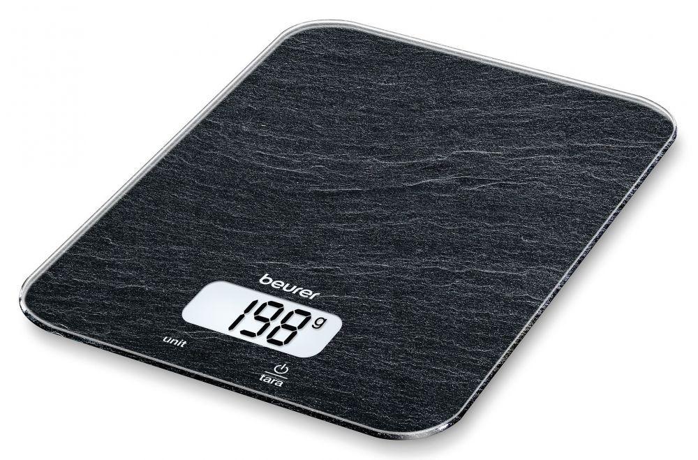 Весы кухонные электронные Beurer KS19 slate, максимальный вес: 5 кг, рисунок весы кухонные smile kse 3267 рисунок