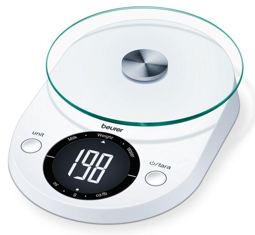 Весы кухонные Beurer KS33 1057430 электронные, цвет белый весы кухонные sinbo sks 4511 4511sn электронные белый