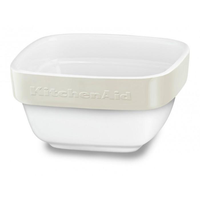 Форма для выпечки KitchenAid, квадратная, 10x10 см, керамика, цвет: бежевый