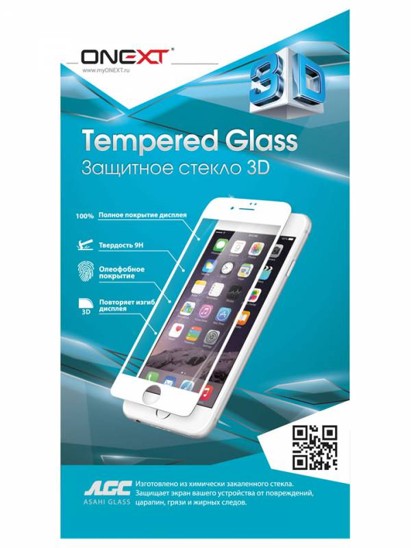 Защитное стекло Onext 3D для Apple iPhone 6/6S Plus, 41005