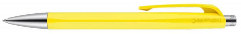 Ручка шариковая Carandache Office INFINITE Lemon Yellow, цвет чернил: синий ручка шариковая carandache office infinite 888 253 gb swiss cross m синие чернила подар кор