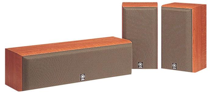 Центральная и тыловые колонки Yamaha NS-P60 3.0, 951693, цвет вишня, 3 предмета