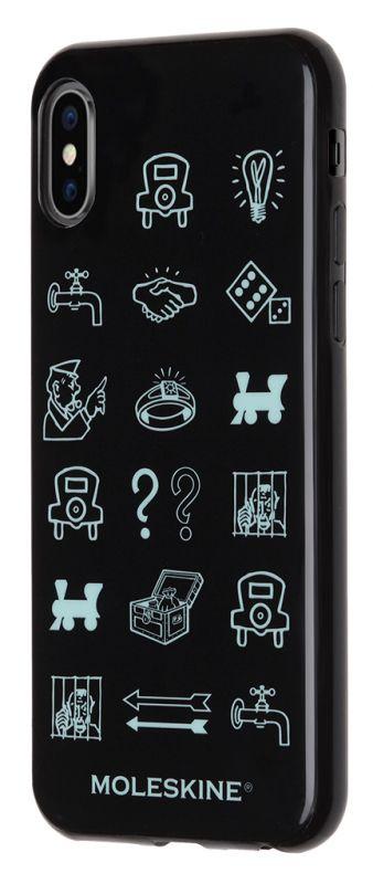 Чехол клип-кейс Moleskine для Apple iPhone X IPHXXX MONOPOLY Icons, 1083181, черный цена