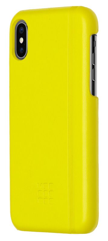 Чехол клип-кейс Moleskine для Apple iPhone X IPHXXX, 1083172, желтый цена и фото