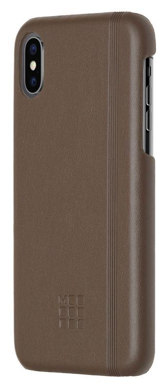 Чехол Moleskine MO2CHPXP14 для Apple iPhone X IPHXXX, 1083173, коричневый чехол клип кейс moleskine для apple iphone x iphxxx 1083172 желтый