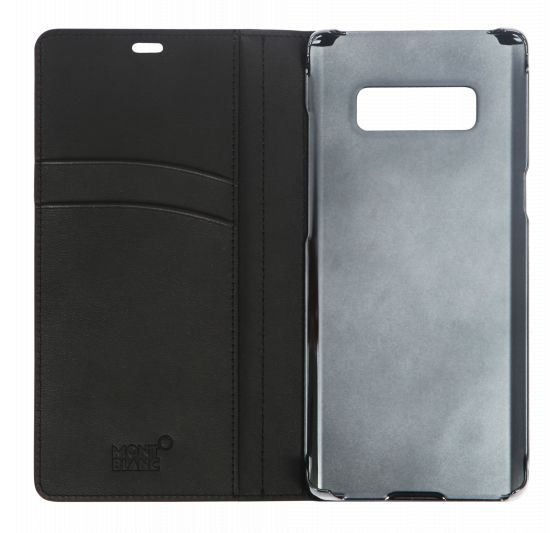 Чехол для Samsung Galaxy Note 8 Чехол (флип-кейс) Samsung для Samsung Galaxy Note 8 Montblanc Soft Grain Flipside черный (GP-N950MBCFAAA) GP-N950MBCFAAA цена и фото