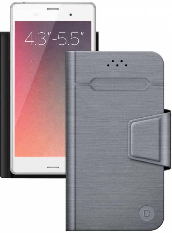 Чехол флип-кейс Deppa для универсальный 4.3-5.5 Wallet Fold, 495944, серый