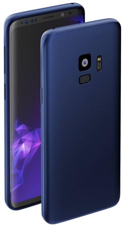 Чехол (клип-кейс) Deppa для Samsung Galaxy S9 Case Silk, 1083764, синий (89002)
