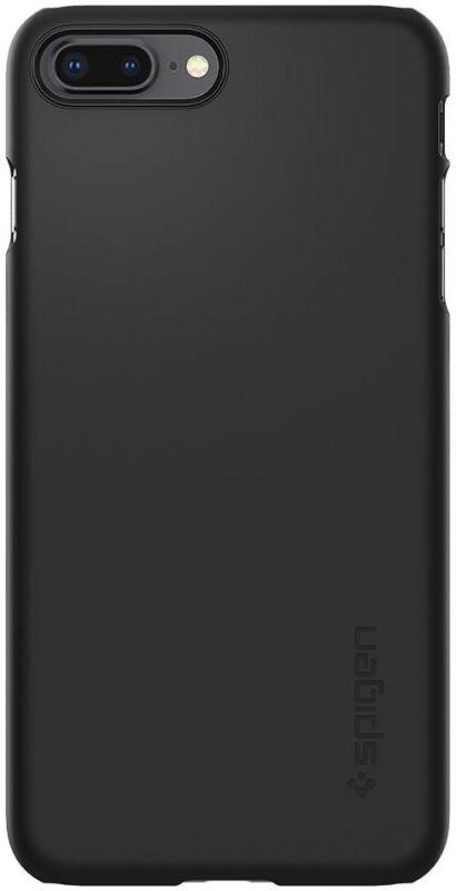 Чехол клип-кейс для Apple iPhone 7 Plus/8 Plus Spigen Thin Fit, 1084861, черный чехол книжка для apple iphone 7 8 sgp valentinus черный