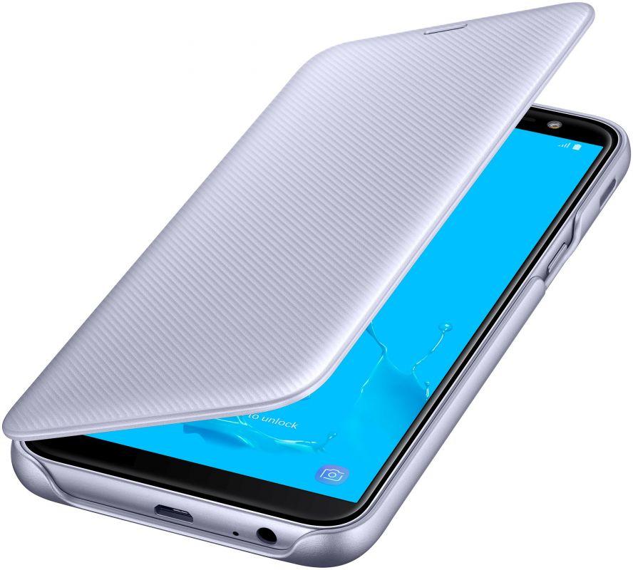 Чехол флип-кейс Samsung для Samsung Galaxy J6 (2018) Wallet Cover, цвет: пурпурный