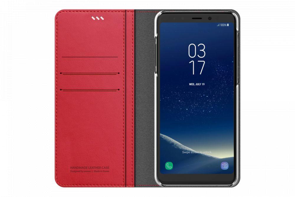 Чехол флип-кейс Samsung для Samsung Galaxy A8+ Designed Mustang Diary, 1026769, красный цена и фото