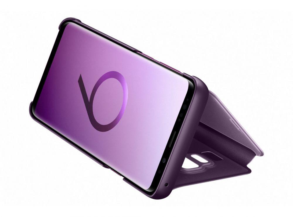 Чехол флип-кейс Samsung для Samsung Galaxy S9+ Clear View Standing, цвет: фиолетовый чехол книжка samsung clear view standing cover ef zg960cfegru для samsung galaxy s9 золотистый