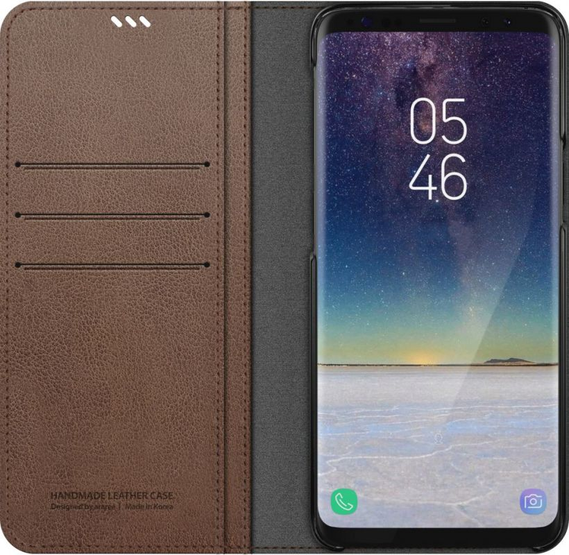 Чехол Samsung для Samsung Galaxy S9+ Mustang Diary, 1047515, коричневый