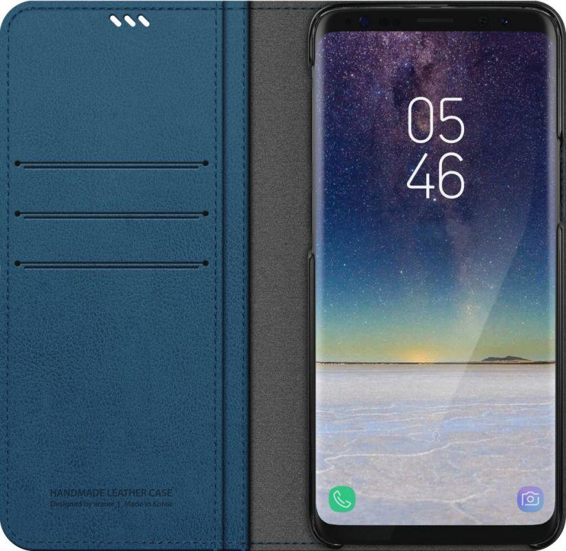 Чехол флип-кейс Araree для Samsung Galaxy S9+ Mustang Diary, 1047512, синий