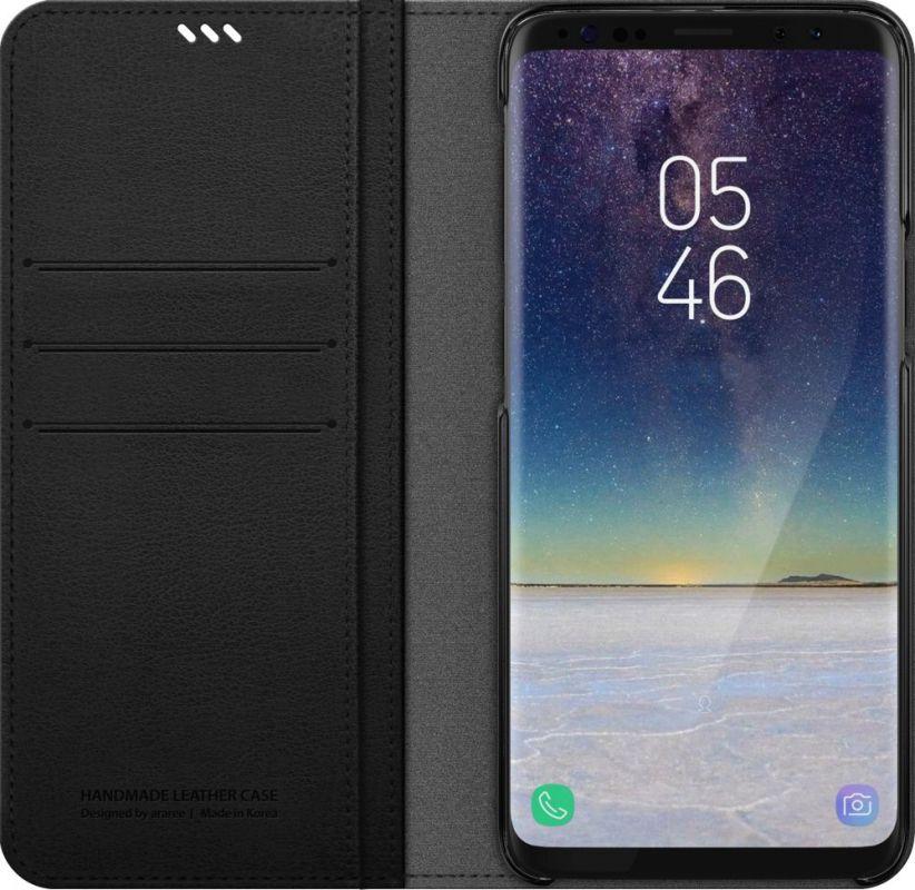 Чехол флип-кейс Araree для Samsung Galaxy S9+ Mustang Diary, 1047527, черный