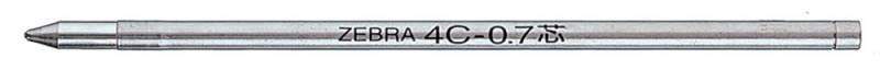 Стержень Zebra 4C (BR-8A-4C-BL) для шариковых ручек, цвет: синий w kellner tema variado interludio y huapango op 4c