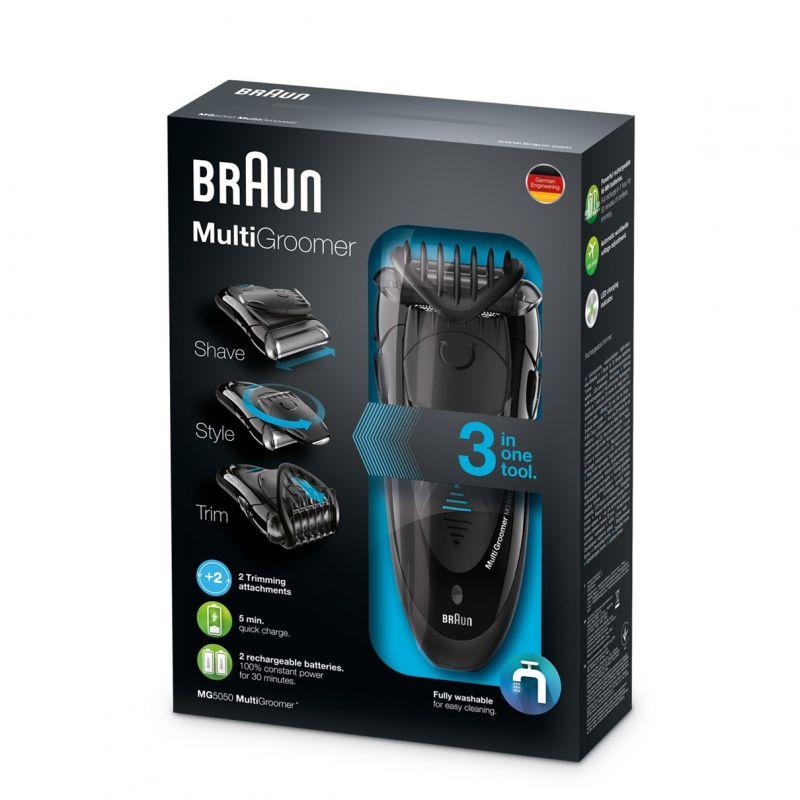 Бритва сетчатая Braun MG5050, 1 бритвенная головка, питание от сети и аккумулятора, цвет:черный бритва braun 1130 s