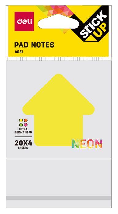 Закладки самоклеющиеся бумажные Deli EA03102 4 цвета в упаковке, 20 лист