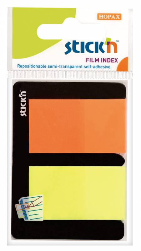 Закладки Stick`n, самоклеящиеся, 25x45 мм, 2 цвета