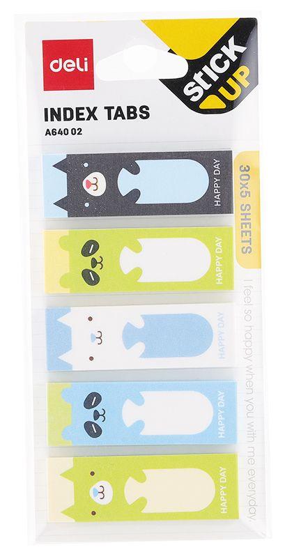 Закладки самоклеящиеся Deli, бумажные, EA64002, 45 х 15 мм, 30 листов