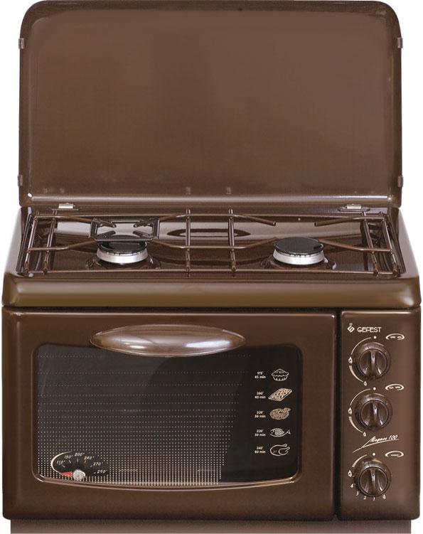 Газовая Настольная плита Gefest ПГ 100 К19, коричневый