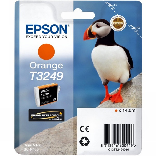 Картридж струйный Epson T3249 C13T32494010 для Epson SureColor SC-P400, Orange цены