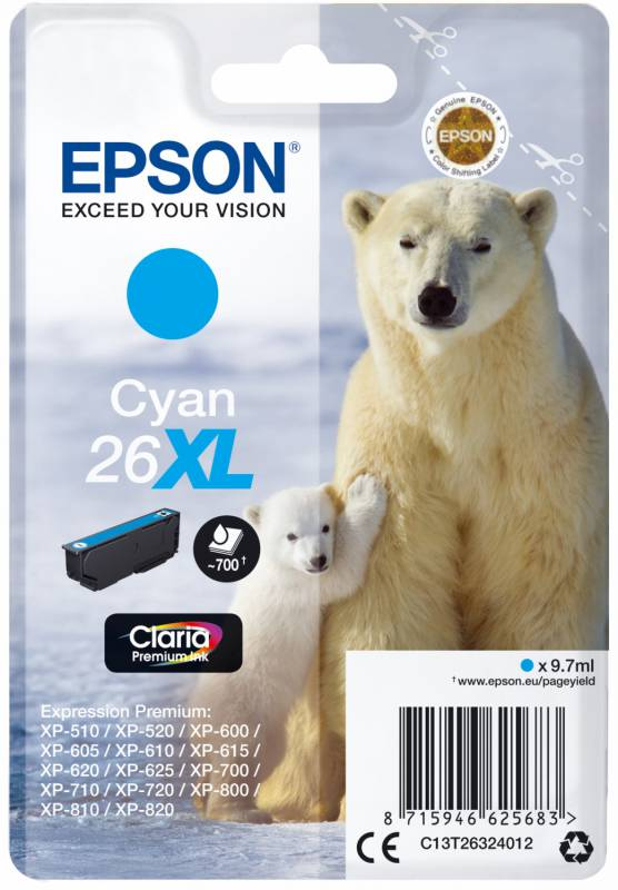 Картридж Epson 26XL (C13T26324012), голубой цены