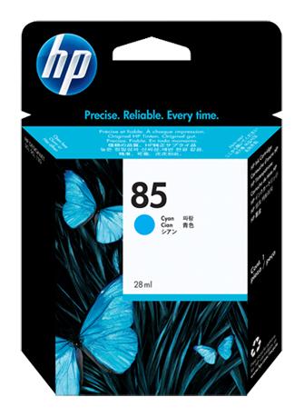 Картридж струйный HP №85 C9425A, 37495, голубой для HP DJ 30/90/130 hp 85 c9420a blue