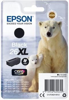 Картридж Epson T2621, черный, для струйного принтера