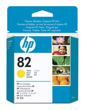 Картридж HP C9400A 82, желтый, для струйного принтера, оригинал hp c9502ae 56 black струйный картридж