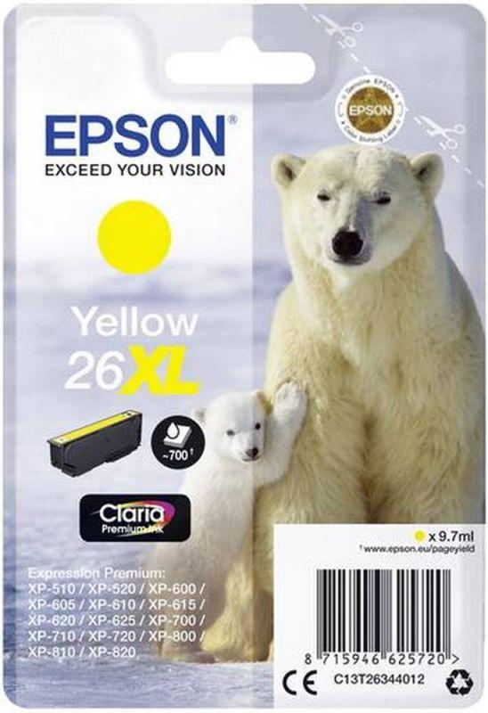 Картридж Epson 26XL (C13T26344012), желтый цены