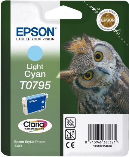 Картридж Epson T0795, светло-голубой, для струйного принтера, оригинал картридж epson original т034540 светло синий для stylus photo 2100