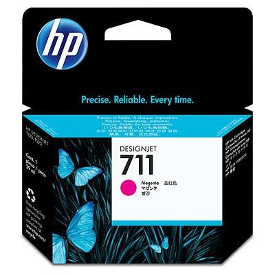 Картридж HP 711 (CZ131A), пурпурный картридж струйный hp 56 c6656ae черный для hp pcs 2100 dj 5550 450 ps 7150 7350 7550 520стр