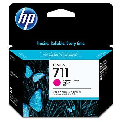Картридж HP 711, пурпурный, для струйного принтера, оригинал