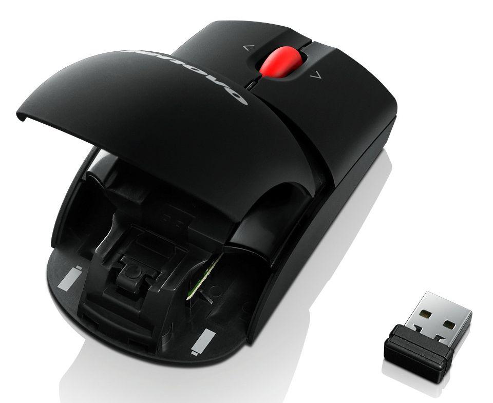 Мышь Lenovo 0A36188 лазерная 1600dpi беспроводная USB, 0A36188, черный комплект lenovo essential черный usb 4x30l79912