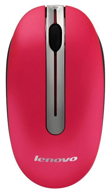 Мышь Lenovo N3903 GX30N72250 оптическая, беспроводная USB, 1049639, красный