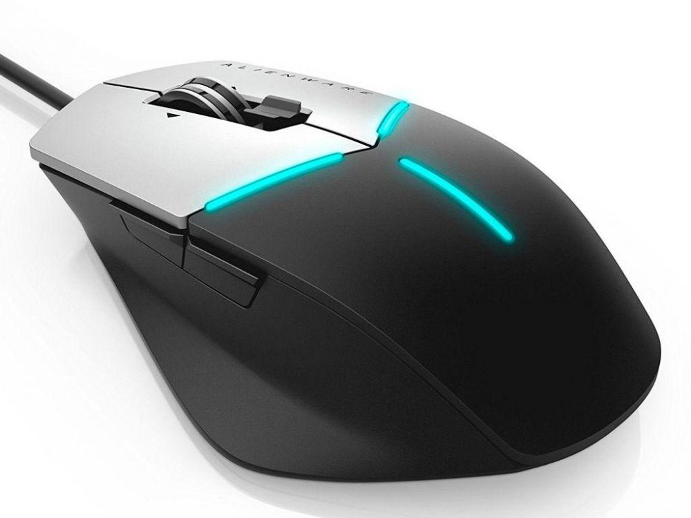 Мышь Alienware AW558 Core Gaming, 5000dpi, USB, цвет серый/черный