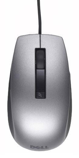 лучшая цена Мышь Dell 570-11349 лазерная 1600dpi USB 6but, 570-11349, серебристый