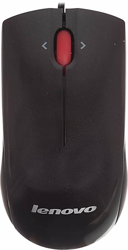 Мышь Lenovo Mobgula 41U3074 лазерная, USB 2but, 690311, черный