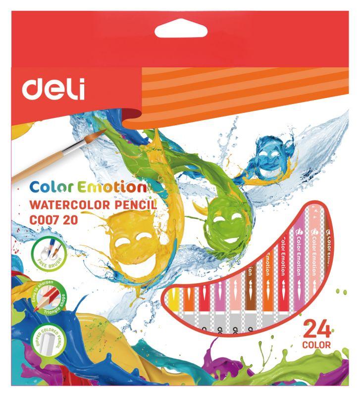 Набор карандашей Deli акварельные, 1028853, 24 шт цена