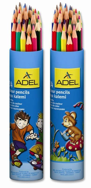 Фото - Карандаши цветные Adel Colour 211 2360 003 d=3мм 24цв. алюм.тубус pentel цветные карандаши colour pencils 12 цветов