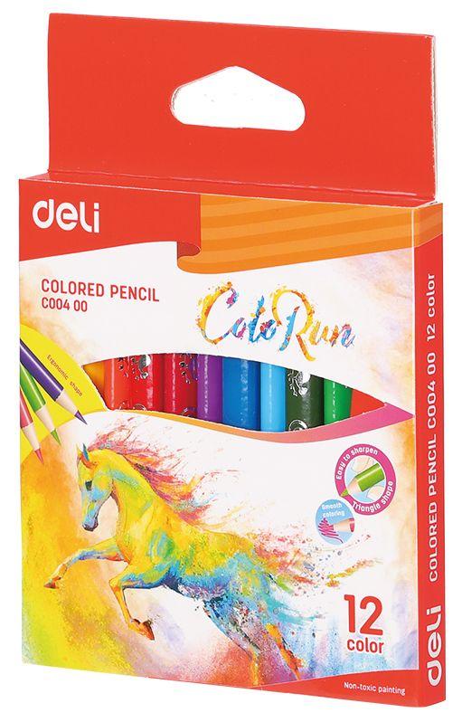 Карандаши цветные Deli ColoRun, 12 цветов скатерть duni sun flower 84х84 см