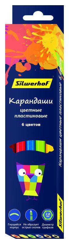Карандаши цветные Silwerhof Цветландия, 6 цветов ручки и карандаши silwerhof карандаши цветные silwerhof 12 цв