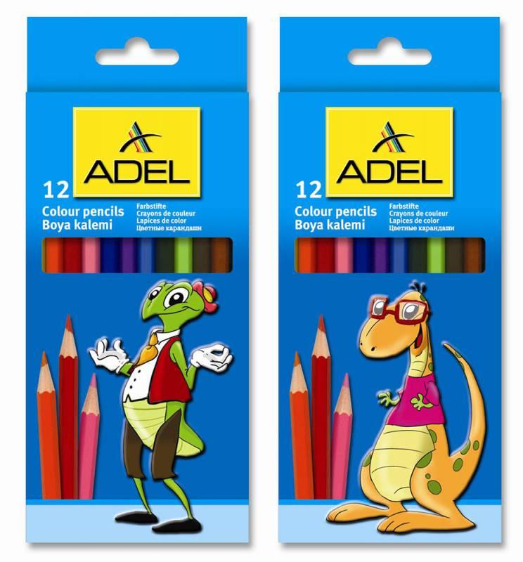 Набор цветных карандашей Adel Colour 211-2315-007, 12 шт